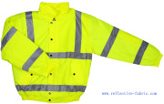 200d 100% Polyester Oxford Fabric with PU Coated Reflective Safety Jacket