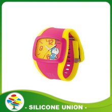 Hot vente Silicone Anime Cartoon enfants montres 3D