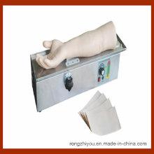 Treinamento mecânico em injeção no braço da artéria rotativa