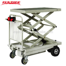 400kg capacity electric lift platform table truck
