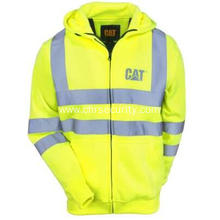 Men's Hi Vis Full Zip Lined Sweatshirt