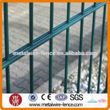 Valla de alambre doble PVC 6/5 / 6mm y 8/6 / 8mm para valla de construcción