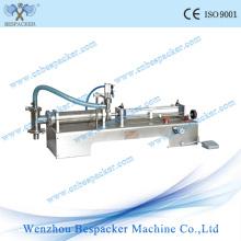 Máquina de enchimento semi-automática da garrafa do leite do aço inoxidável pneumático