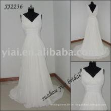 2011 Real Manufacturing Chiffon Wdding Kleid JJ2236