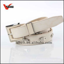 Fashion design pu leather wide lady's belt