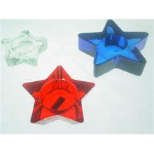 Star-Shaped Candelero de cristal transparente / titular de la vela (DGH9.7-3)