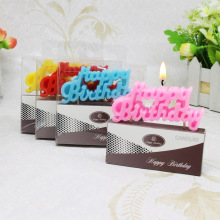 Uninterrupted New Type Letter Happy Birthday Candles