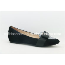 Latest Trendy Comfort Fashion Leather Lady Shoes