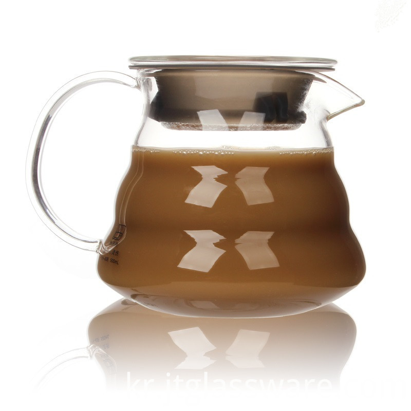 High borosilicate glass coffee milk tea pitcher