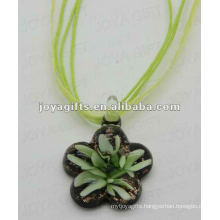 new arrival Lampwork Glass Pendant Necklace Lampwork glass Necklace italian murano glass pendant with wax cord