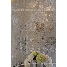 Rose patrón de flores de mosaico de vidrio de mosaico de pared (HMP799)
