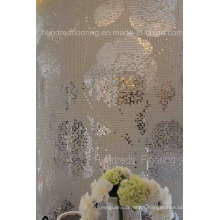 Rose Flower Pattern Glass Mosaic Pattern Wall Tile (HMP799)