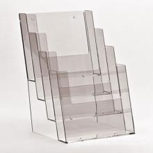 Suporte de exibição de folheto de acrílico colorido para papel de tamanho A4