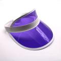 Gorra de visera de pvc transparente con protección UV