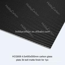 Hoja de fibra de carbono de 3K UD epoxi resina completa, servicio de corte CNC para FPV