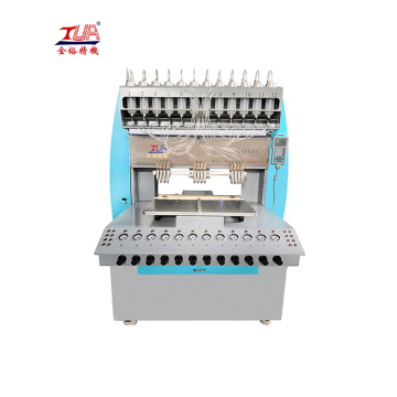 Rubber logo making machine pvc/silicon dispensing machine