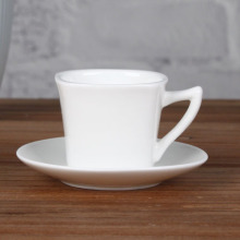 Magnesia square 3 oz cup and saucer