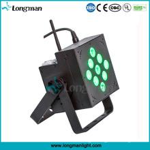 Indoor 9X10W RGBW DMX Battery Powered LED Disco PAR Lights