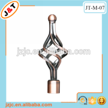 direct factory in Hangzhou AC iron curtain rod with hot sales end caps