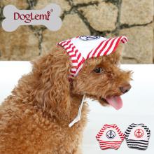 2017 Guangzhou chapeau pour animaux de compagnie en gros mode Anchor Stripe chien cap doux Toile D'été En Plein Air Baseball Chien Chapeau