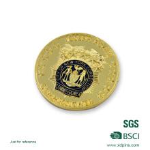 Moneda del desafío de la policía recién chapada en oro
