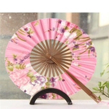 Ventilador de mão de bambu mini ventilador de casamento