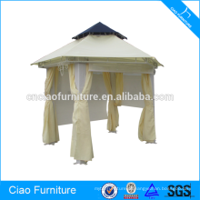 Outdoor Tent Rattan Gazebo With Curtains And Blind