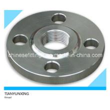 ANSI B16.5 Rosca de acero al carbono forjado / bridas roscadas