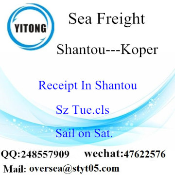 Shantou Port LCL Consolidation To Koper