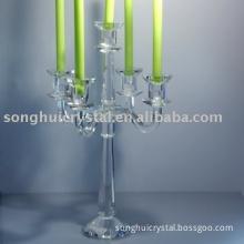 Five Arm crystal candleholder
