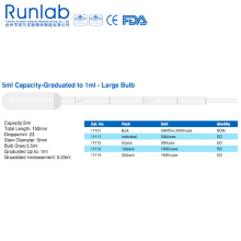 5ml Large Bulb Transfer Pipettes with Graduation