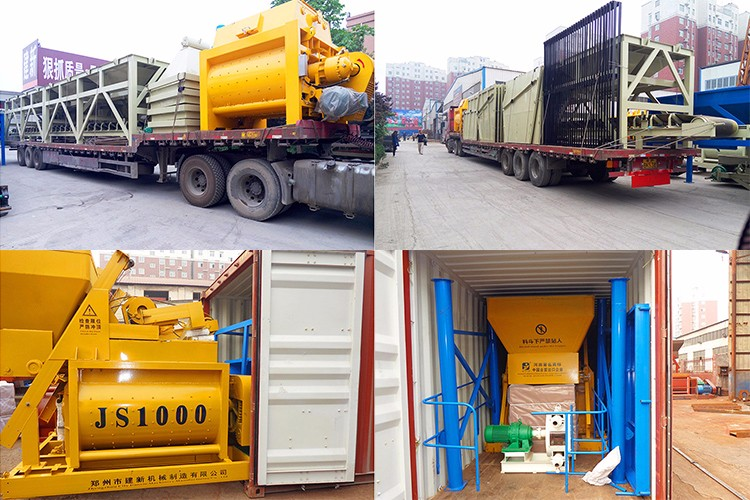 Delivery concrete mixer