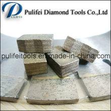 Segment de diamant de granit de marbre et de main de coupe de basalte Segment de diamant