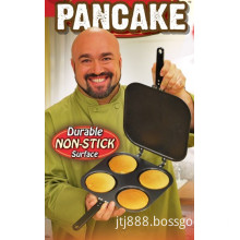 Perfect Quick 4 Four Holes Cups / Circles / Rounds Carbon Steel Fluffy Pancake Maker Pan (JTJ1)