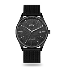 Wholesale MCE brand Black mesh automatic watch