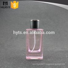 100ml empty glass pink perfume bottle