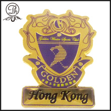 Golden sport club pin badge