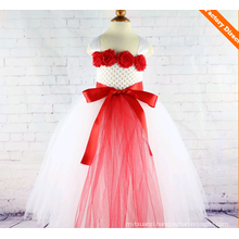 Wholesale handmade birthday tutu dress for kids / kids plus size tutu dress / baby girls tutu dress