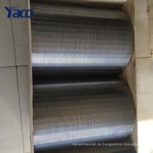 nahtlose Stahlrohr flach 1-10-50-100-250 Mikron Johnson Keil Draht Bildschirm für die Entwässerung