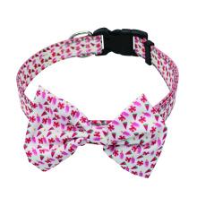 Nylon Dog Bow Tie Collar Plastic Release Buckles