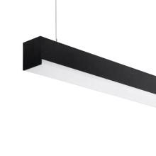 Modern linear track light black white hanging dimmable industrial linear light led