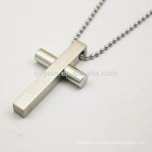 Fabrik Preis zwei Ton Lords Gebet und Kreuz Edelstahl Halskette