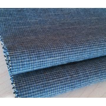 Tela tecida tingida fio do algodão de Slub para calças