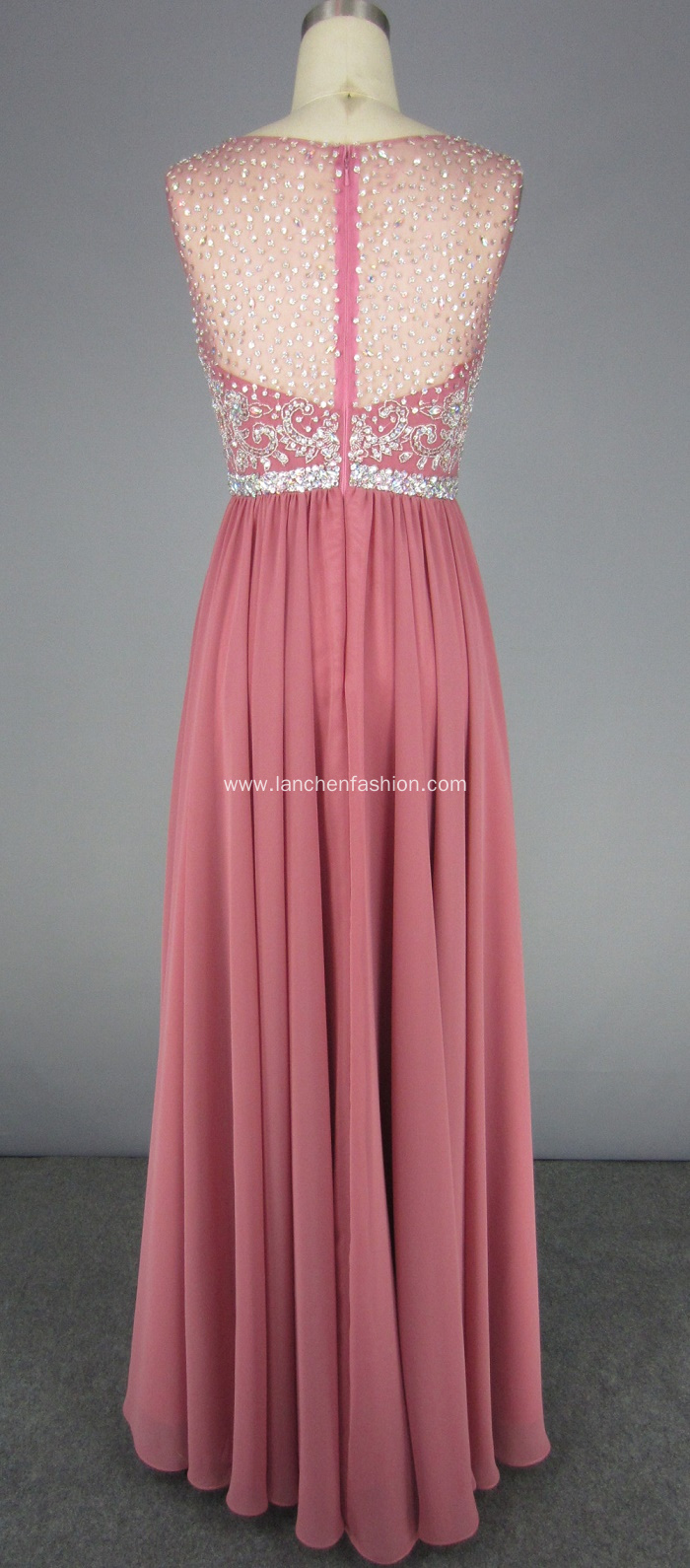Unique Crystal Beading Prom Dress Style