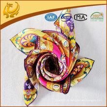 2015 designer marca sarja lenço de seda