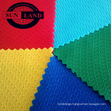weft knitted eyelet mesh 100% polyester rugby fabric