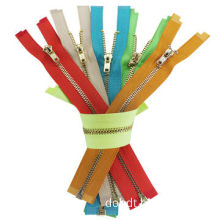 3# brass zipper with open end, all kinds of colors, polyester tape, superb quality