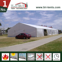 White PVC Sidewalls Tent with Full Glass Walls for Hot Sales