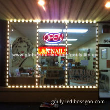 Track lighting system with cover waterproof for store front glass