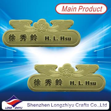 Custom Gold Name Badges for Staff, Staff Name Badges